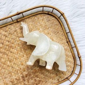 Other - ✨Solid Alabaster Elephant Figurine